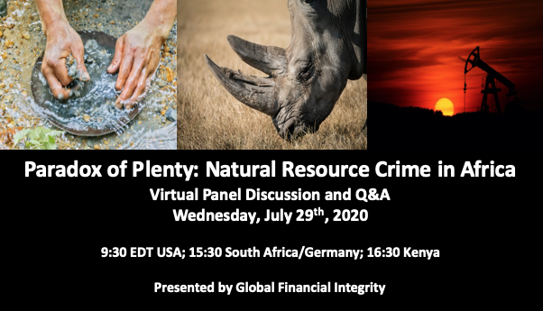 🚨 Join us July 29 for a virtual discussion on natural resource crime in Africa, featuring @acgillies @ConsSynergies @franciskairu & @giz_gmbh   Register at the link: https://t.co/hJFSiZN80P https://t.co/rbXLycrMY4