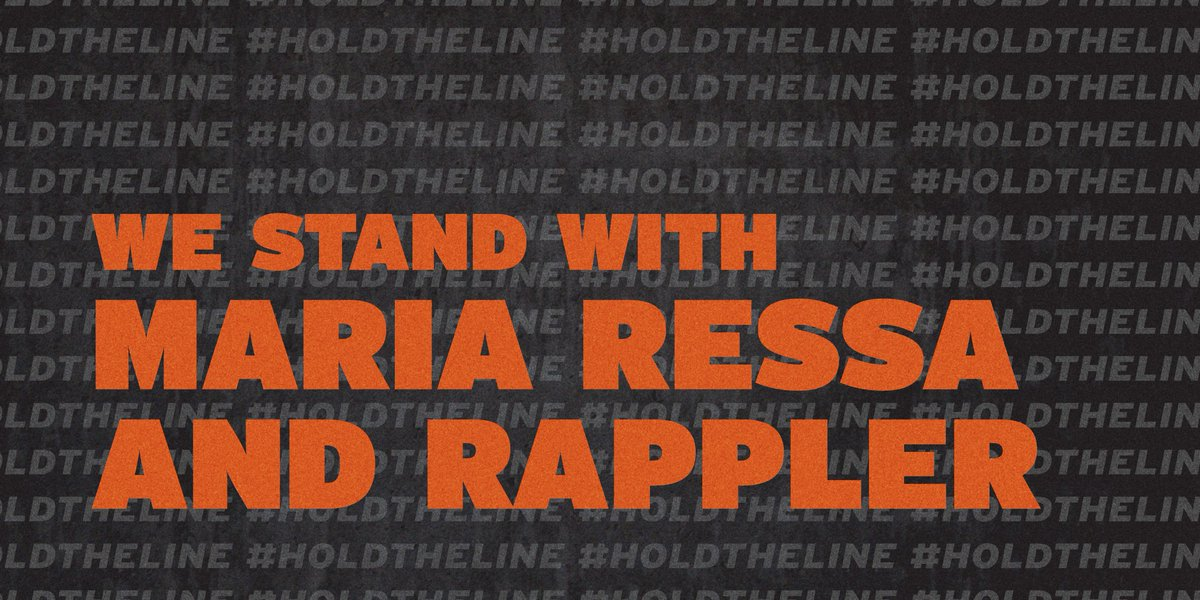 Join CPJ and 60 #pressfreedom organizations in our call to #HoldTheLine in support of journalists Maria Ressa and Reynaldo Santos and independent media in the #Philippines.  Sign and share the petition in support: https://t.co/1xintj6WYj https://t.co/pWoxjQqrNU