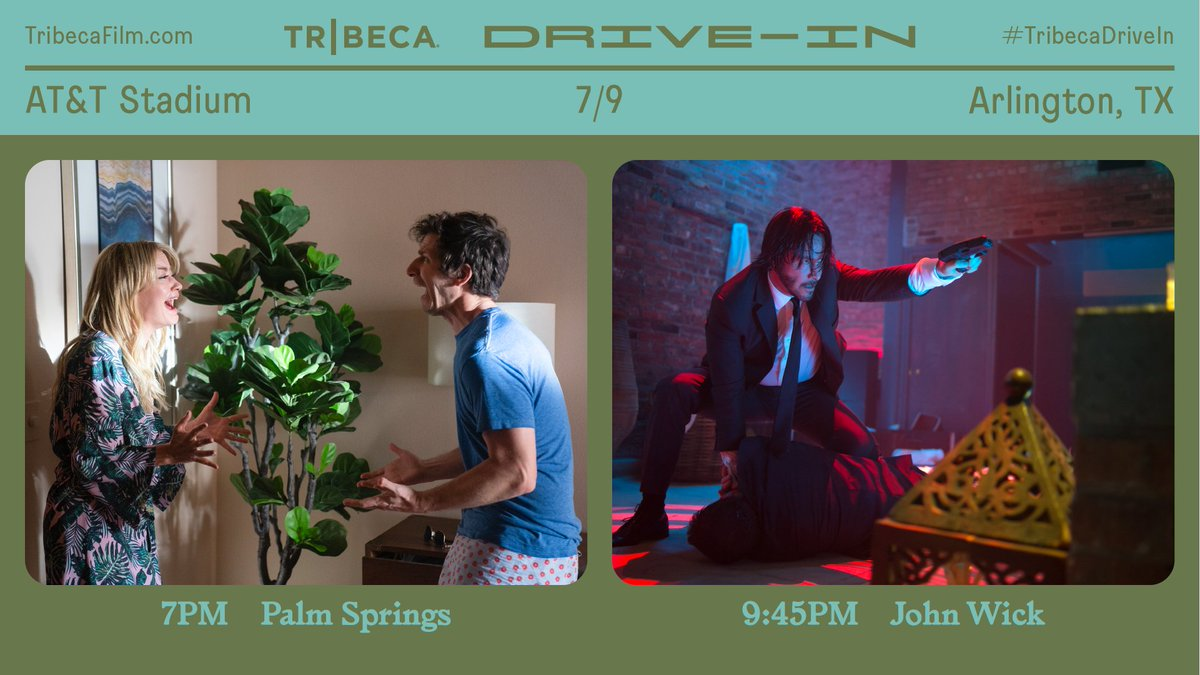 Weekend 2️⃣ of the @Tribeca Drive-In begins TONIGHT! With 30+ iconic summer blockbusters, special screenings for healthcare and frontline workers, and concessions from local businesses. #TribecaDrive 🎥Tickets are limited — TribecaFilm.com/drive-in/ATT-S…