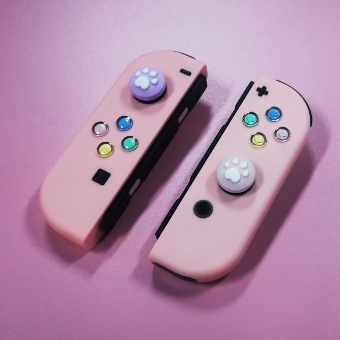Love these new custom buttons @Nintendo #NintendoSwitch #JoyCon #gamingcommunity #customcontroller #gamers #hearts #Pinkpic.twitter.com/c0Wy3XNHQY