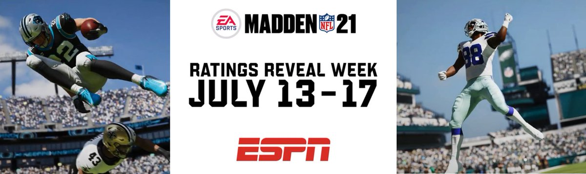July 13-17 is #MaddenRatingsWeek on ESPN. #Madden21 player ratings will be unveiled on GetUp. Also, @LauraRutledge @LRiddickESPN @FieldYates & @minakimes headline a SportsCenter special on July 17. Via @livcwilson: bit.ly/3efha6K
