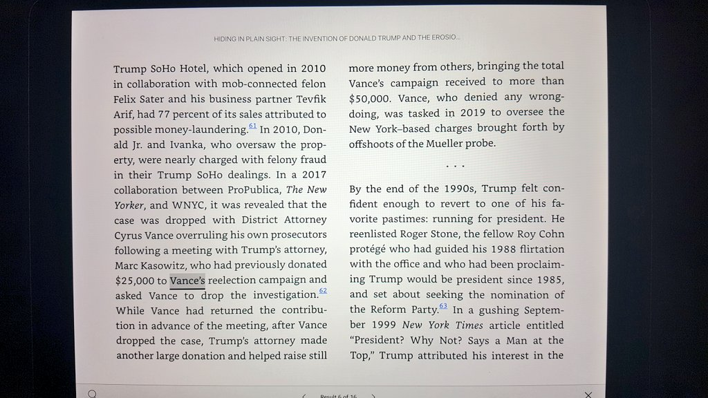 In 2010, Ivanka and Don Jr were nearly indicted for felony fraud. The district attorney who dropped the case -- after a hefty donation from Trump's lawyer -- was Cy Vance.  SCOTUS ruled that Vance, not Congress, can access Trump's tax returns.