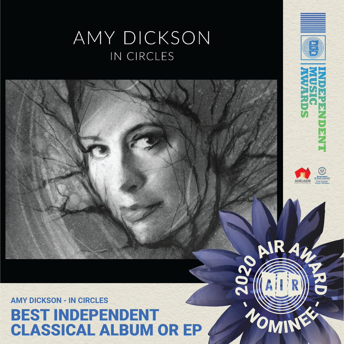 "Exciting news! @AmyDickson's album ""In Circles"" featuring James MacMillan's 'Saxophone Concerto' and 'From Galloway' has been nominated for ⭐️Best Independent Classical Album ⭐️by the Air Awards in Australia @ausindies: https://t.co/cQzllafMp6 Listen here: https://t.co/nKOcG4RNI4 https://t.co/ie3lF6YA3N"