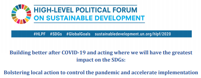"Cities will share their experiences in addressing the COVID-19 pandemic, climate change and other emergencies, and will present innovative practices to ""build back better"" at our Forum of Mayors on 6 October"" @algayerova at #HLPF Learn more at 👉 ow.ly/t7tQ50AtZsp"