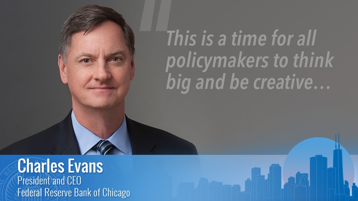 """Evans: """"This is a time for all policymakers to think big and be creative. And with the support of the U.S. Treasury, our Federal Reserve credit programs have indeed aimed high."""" #ChicagoFedInsights blog highlights the Community Forum on #COVIDRecovery. https://t.co/TdiK4rMFQG https://t.co/XDsxgaXQFR"""
