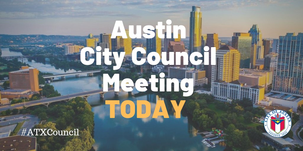 Today's #ATXCouncil special called meeting will begin shortly. To protect the community from the spread of #COVID19, the meeting will be held online with public speakers, Mayor, and Council Members participating remotely. https://t.co/YbPZX8Zvda