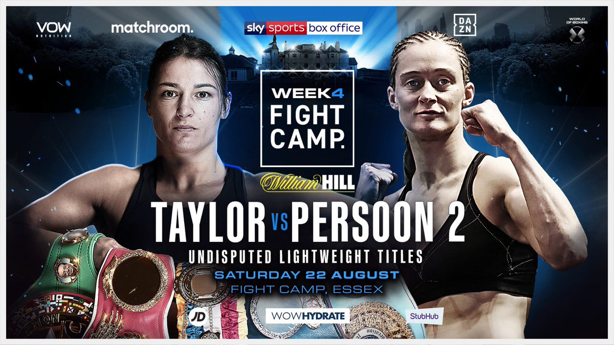 What a fight!!! What a night!! After their fight of the year contender @thegarden last June, they do it all again August 22 at #FightCamp #TaylorPersoon2 #WhytePovetkin 🔥 @skysportsboxing 🔥