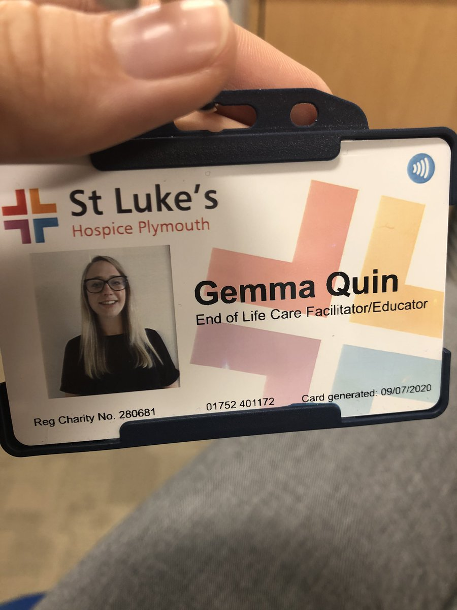 A new chapter in my career, very excited to start my new role as end of life care educator! #physio #education @StLukes_Educate @StLukesPlymouthpic.twitter.com/Vjmtt1bwzf