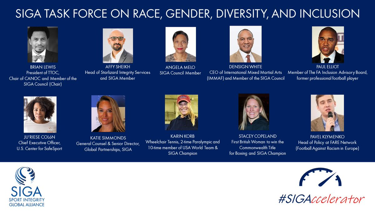 """""""SIGA Creates Task Force on Race, Gender, Diversity, & Inclusion."""" Check out what it's members have to say & will deliver over the next 2 months: https://t.co/PocZw9afoP #Sport4All  @briaclew @densign_white @KarinKorb @scopelandboxer @ColonJuRiese @starlizard_is @FA @FARENetwork https://t.co/0yQT3T6jIJ"""