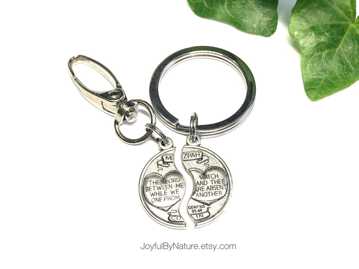 "On sale • Set of 2 protection blessings—Mix & match necklace/key ring/bag clip—One for someone at a distance, the other for you. ""May the Lord watch between me and thee while we are absent..."" https://t.co/IYTD5aelHu #etsymntt #StaySafe #StayHome #HealthcareHeroes https://t.co/tlxJhOA9Iy"