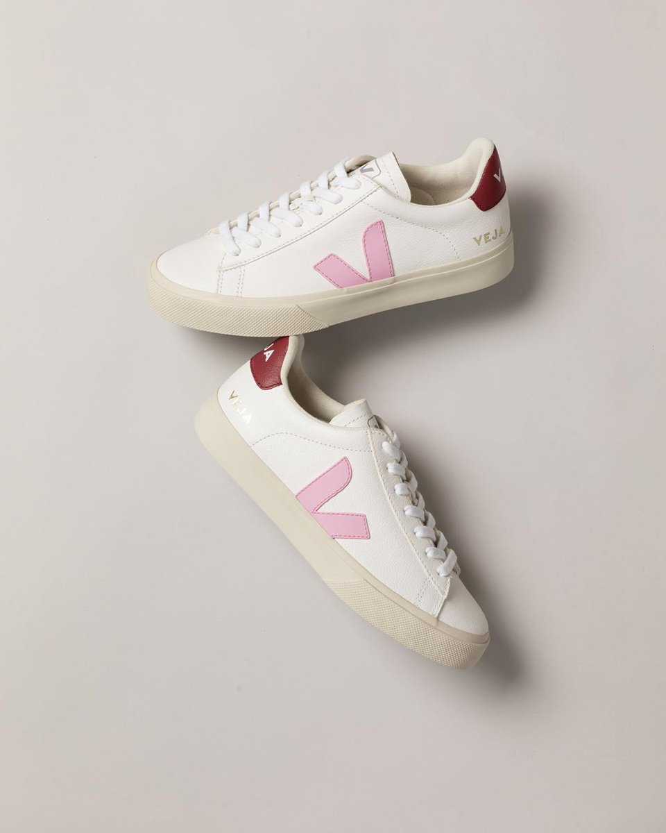 Our iconic Campo now with a summer twist!  Our Campo White Guimauve Marsala are made out of ChromeFree leather, soft lining (33% organic cotton & 67% of recycled polyester) and Amazonian rubber.   Available here: https://t.co/7rF2CM2QZ4. #veja #vejacampo https://t.co/VlHXynCCYs