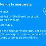 Image for the Tweet beginning: 🔴 Ús obligatori de la