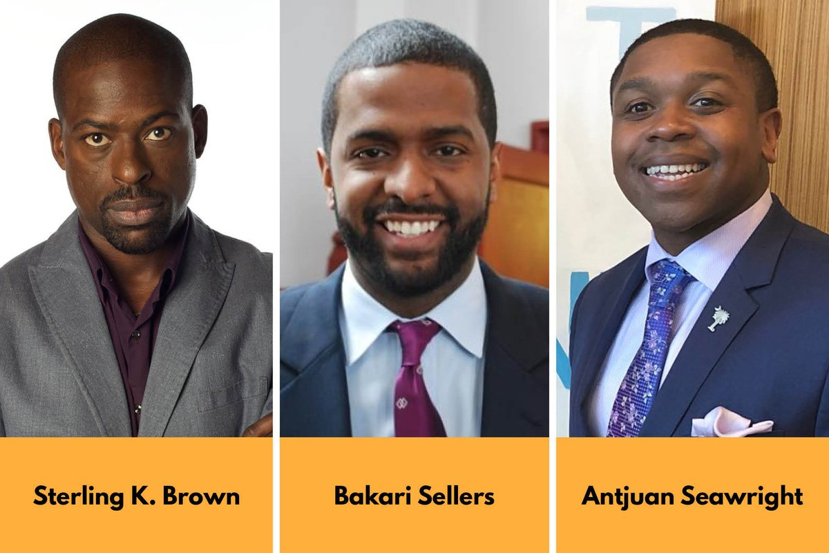 TODAY — 1pm ET  Award-winning actor + producer @SterlingKBrown, CNN analyst and author @Bakari_Sellers, and Dem strategist @antjuansea join our @AkunnaCook to discuss how Dems reach and engage Black male voters.  RSVP: https://us02web.zoom.us/webinar/register/WN_xgCpR41_TpulzjwbmaPR7g …pic.twitter.com/yjBLeQTsUX