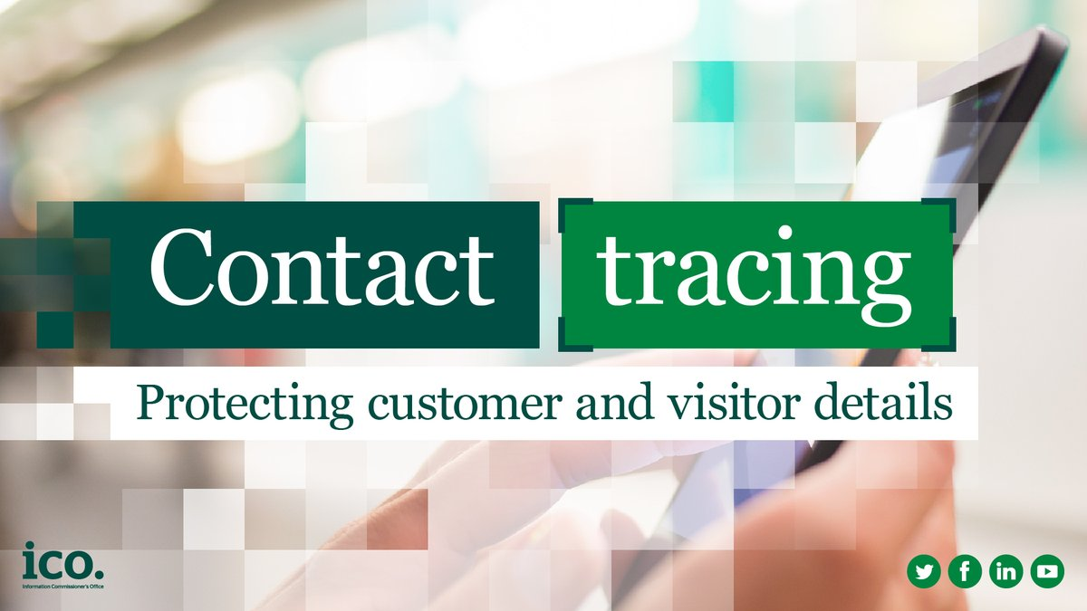 ❓ If we collect data from customers as part of a contact tracing scheme, who can we share this data with? ✅ The data should only be shared with a legitimate public health authority. If you're contacted by a contact tracer, confirm the caller is genuine. ow.ly/H5BE50Arzhp