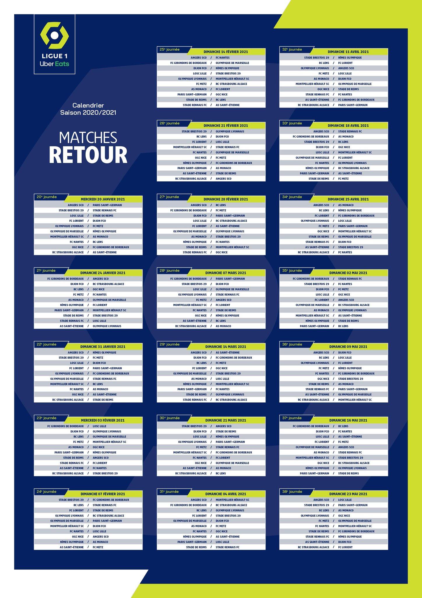 Calendrier Marseille 2021 2020/2021 : le calendrier complet de la Ligue 1 — Alsa'Sports