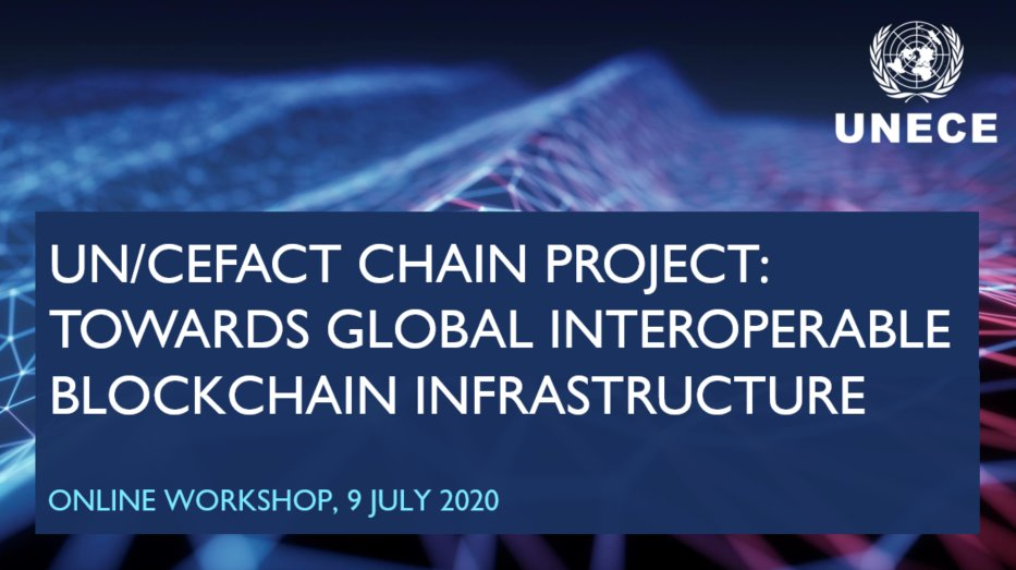 Virtual workshop on Thursday of the @UN/#CEFACT Chain project on cross-border interoperable #blockchain infrastructure 4.0 brought over 200 experts in technology, economics, and politics, which called for better blockchain inclusion. Find out more ➡️ ow.ly/bTv450Au1QC