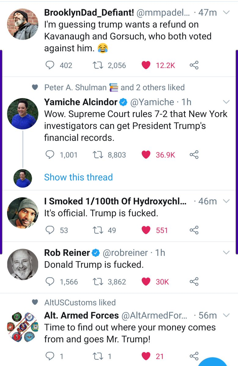 Its a lovely day on this hellscape. #TrumpTaxReturns #TrumpMeltdown