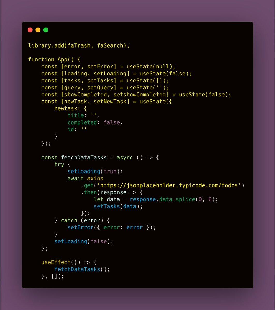 React Hooks #javascript #Reactpic.twitter.com/3SqjJbqx20