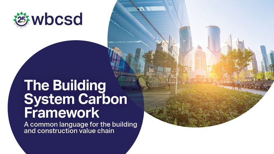 The built environment is responsible for almost 40% of the global energy & process-related CO2 emissions. Our new Building System Carbon Framework helps companies take joint #ClimateAction to reach #netzero & limit global warming to 1.5°C. wbcsd.org/f7lo9