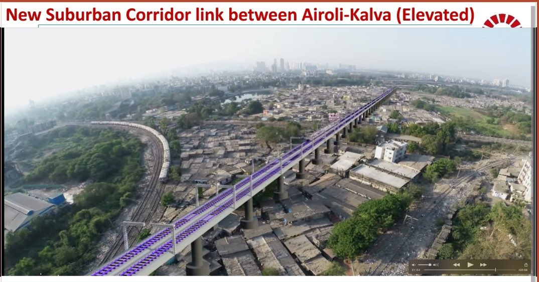 28km new Railway lines between Panvel and Karjat.   3.5km elevated Railway track between Airoli and Kalva.   63km quadrupling of the railway lines between Virar-Dahanu (third and fourth railway lines) https://t.co/KuOZOHac96