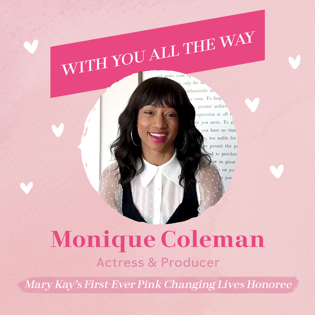 Mary Kay is ✨With You All The Way!✨ Join the brilliant Monique Coleman as she shares tips for building habits that foster self-reflection and growth. Hit the link to enjoy the whole video! 💖 https://t.co/RBYdsVFhGN https://t.co/s8ccixjpWY
