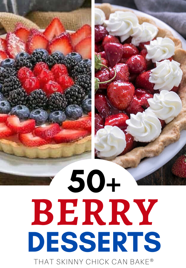 Its prime berry season!! Here are some of the best tried and true strawberry, raspberry, blueberry, blackberry, and mixed berry dessert recipes! RECIPE LINKS HERE---> thatskinnychickcanbake.com/best-berry-des…