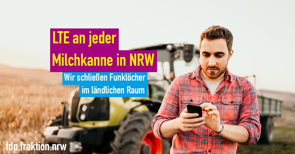 Bestes Netz auch auf dem Land. Dafür steht die #NRWKoalition mit #Digitalisierung|sminister @a_pinkwart.