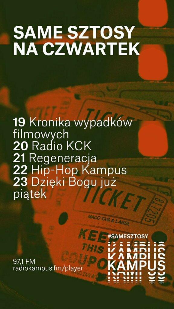 Do usłyszenia wieczorem na 97,1 FM - po 19 filmy, od 20 audycje muzyczne! https://t.co/WPhIKc7R2I #Warszawa #muzyka #film #kultura #rap #hiphop #DJ #czwartek #dobrywieczór https://t.co/3jSM0hZXgN