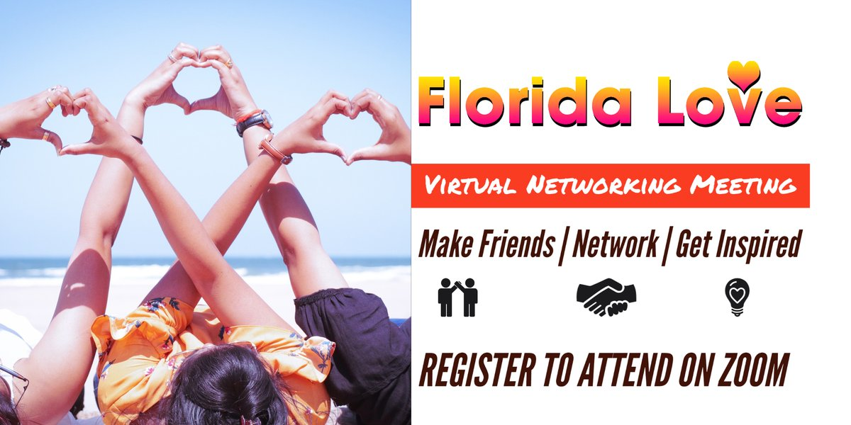 Join us for our networking event today at 5pm! Register at https://t.co/3spXegtT27 or on Eventbrite: https://t.co/tibdWewQ6L   #florida #floridanetworking #businessnetworking #floridalove #happyhour #virtualnetworking https://t.co/ojVPIQFInt