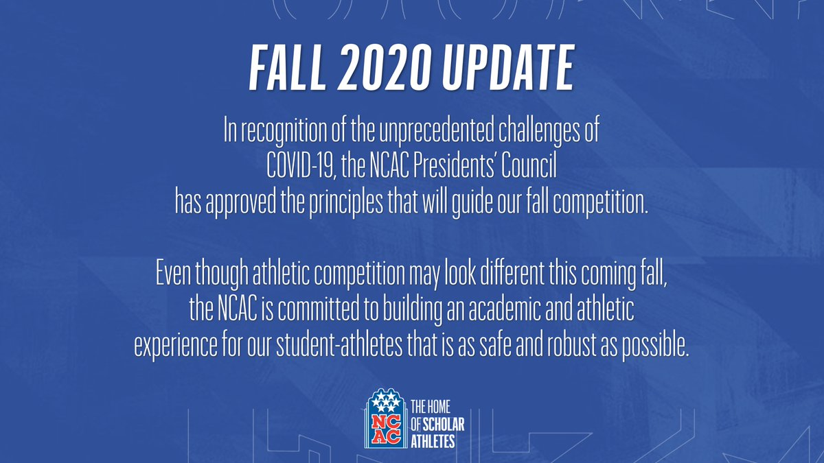 NCAC announces fall plans  Full Statement: https://t.co/PTUmg9Bl7G https://t.co/XfFVW6xVzS