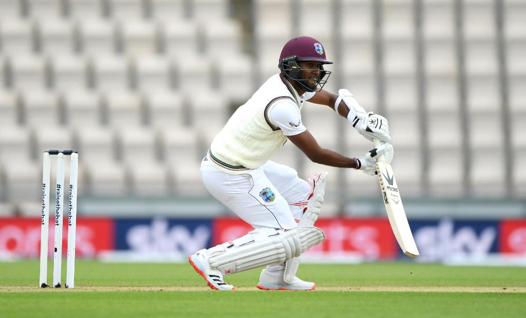 Kraigg Brathwaite and John Campbell are off to a steady start 🌴   West Indies are 21/0 as bad light forces the players off the field.  #ENGvWI https://t.co/ntO0OKgexl