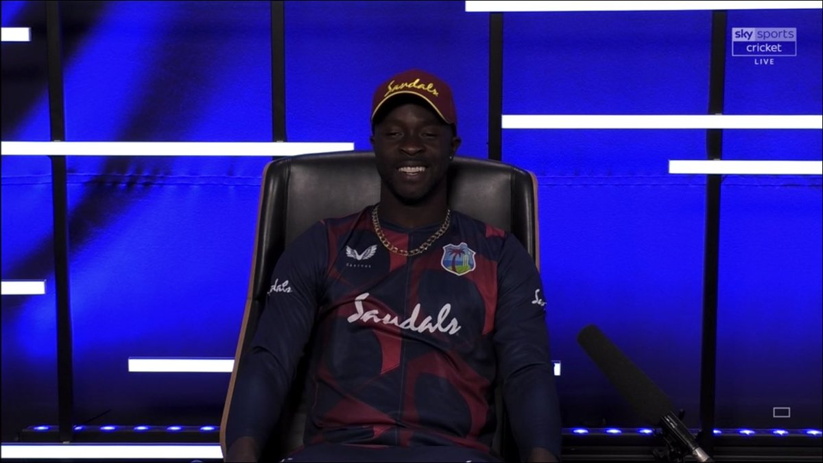 Day 2, and Kemar is in the Diary Room.  #ENGvWI<br>http://pic.twitter.com/z2yAinkAJx