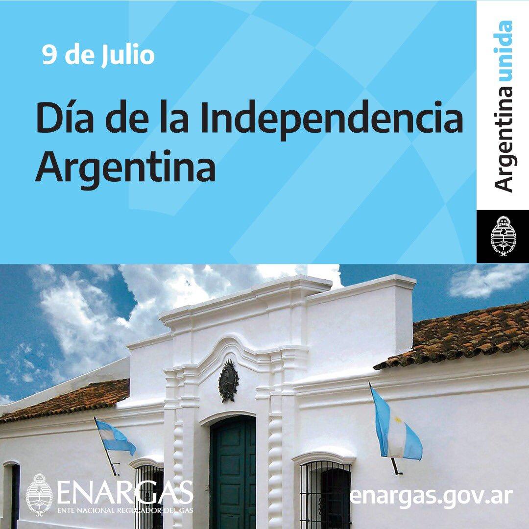 ¡Felíz día de la Independiencia, argentinos y argentinas!   #ArgentinaUnida #DiaDeLaIndependencia   @FBernalH https://t.co/9Hxv4vudAQ