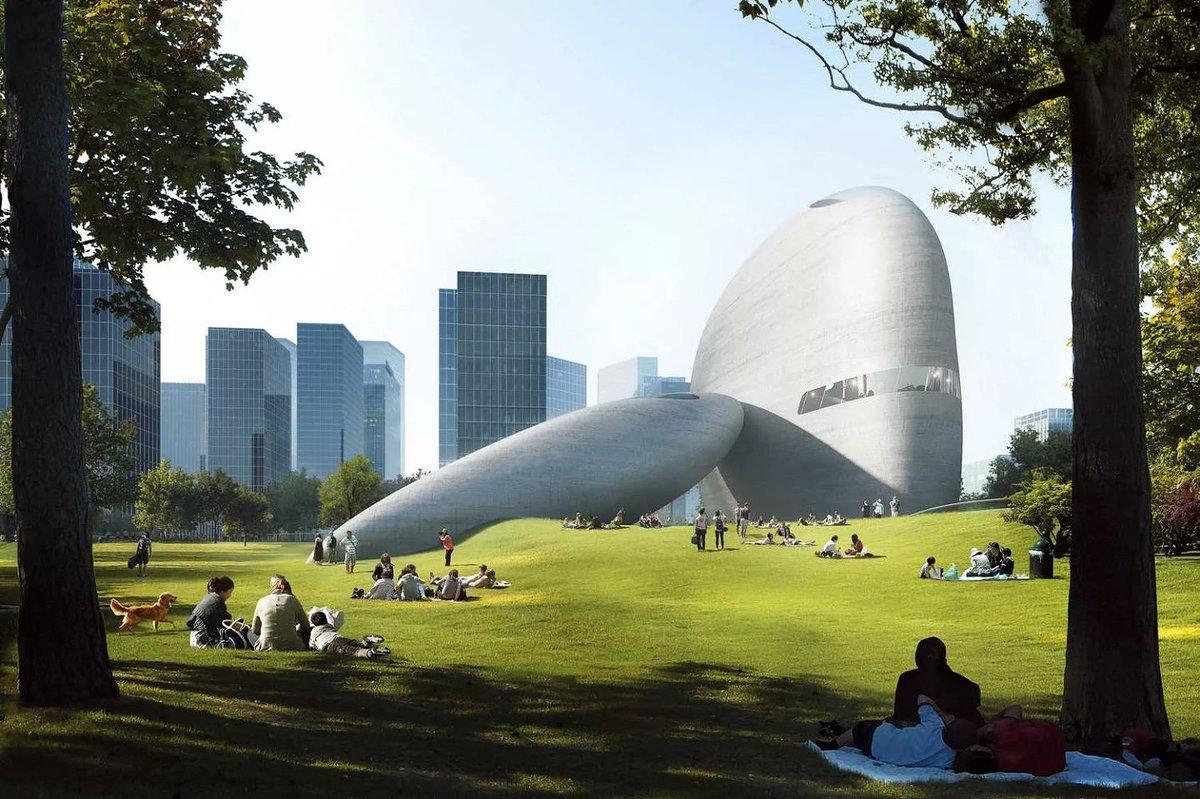 E esse parque cultural na China, que mais parece um cenário de filme futurístico? O espaço deve ser concluído em 2023. Vem entender e saber mais sobre o projeto:  https://t.co/ThuWOP2xtX https://t.co/bNETclBvEu