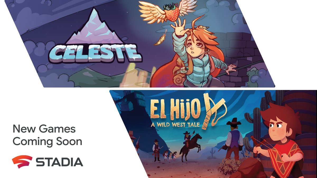 Adventure awaits you in Celeste and El Hijo - A Wild West Tale, two exciting narrative-driven games coming soon to Stadia.  Check out our blog for all the details: https://t.co/lg0gy2pvEp https://t.co/Zruxfhk8DE