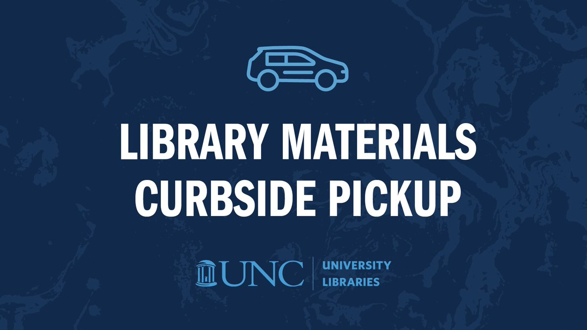 Beginning 7/13: contactless library materials pickup. Members of the University community & registered borrowers can place requests from any library location via the online catalog. Pickup locations will be located outside Davis Library and @hslunc. https://t.co/yJZCszMsuD https://t.co/geNPvVEZmS