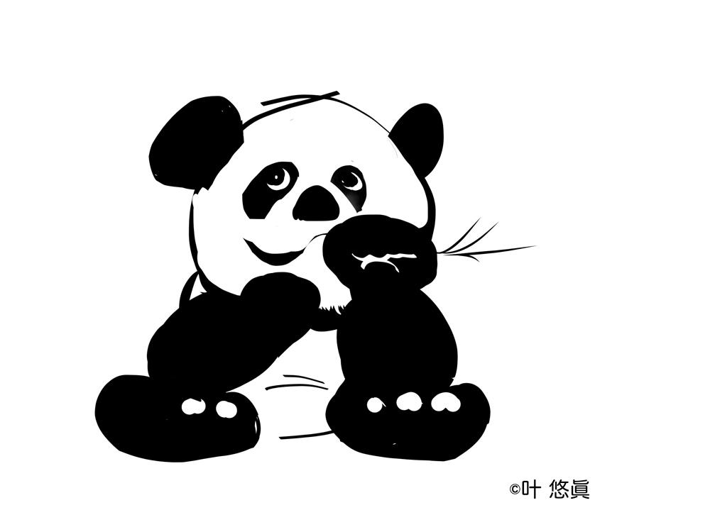 KISEKI報告(7月9日14.20)をマウスで描いてみましたが😅🤣🥴TVニュースのシャンシャンとは、かなり違います笑。私は、4ヶ月見てない心のシャンシャンイメージです。早速、タブレットペン注文です。