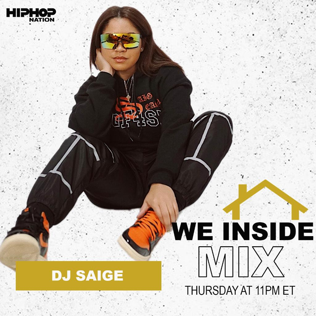 Every Thursday at 11pm ET, we've got @djsaige_ with the #WeInsideMix. 🔥 Tune in here: siriusxm.us/djsaigetw