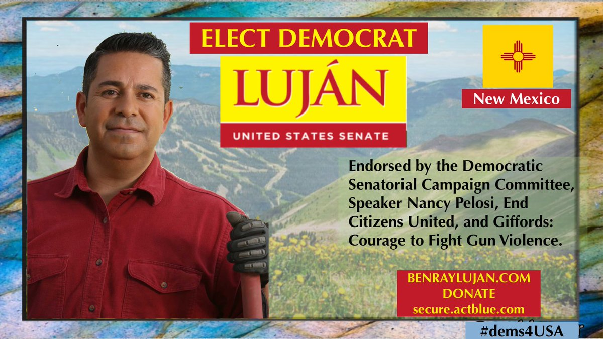 @benraylujan stands with the women of #NM & with all women of America. He has been a powerful voice as #NM03 Rep. Support his campaign & send him to the Senate in November.   We must #FlipTheSenateBlue and electing Rep. Luján is a great plan for #NM and the US.  #dems4USA #ONEV1 https://t.co/Nixq9lgBna https://t.co/yCkbiMByCw