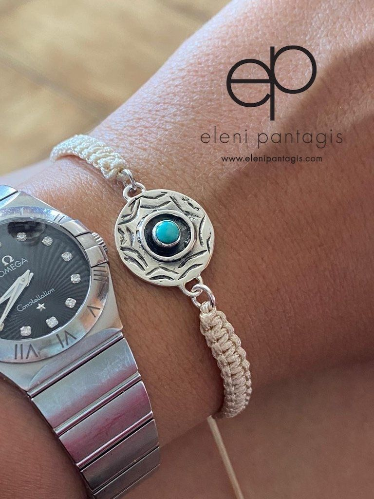 Evil eye bracelet turquoise circle silver evil eye bracelet with creme macrame nylon bracelet  https://buff.ly/2BCt2md   #womenfashion #silverjewelry #SmallBiz #WomeninBusiness #handmade #shopsmall #SmallBusiness #eShoppic.twitter.com/e1CQMP3zGG