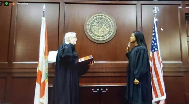 Congratulations to The Honorable @LondonKite on being sworn in as a Duval County Judge by Chief Judge Mark Mahon.  Thanks for inviting the JNC to attend virtually! https://t.co/OSjgcyCAr4