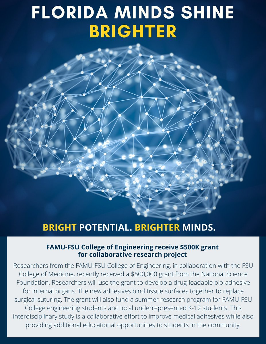 #FloridaMindsShineBrighter @FAMUFSUCOE receive $500K grant for collaborative research project
