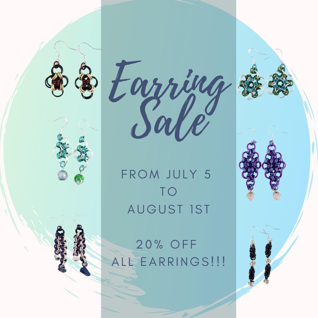 July is earring month. All earrings 20% off & Free Shipping!!! #etsy #etsyshop #etsyseller #etsyfinds #etsystore  #etsygifts #etsyjewelry #etsyuk #etsyhandmade #etsysellers #etsysale  #earrings #earringsoftheday #earringstagram #earringswag #earringshop #earringsforsalepic.twitter.com/qElAgrfCki