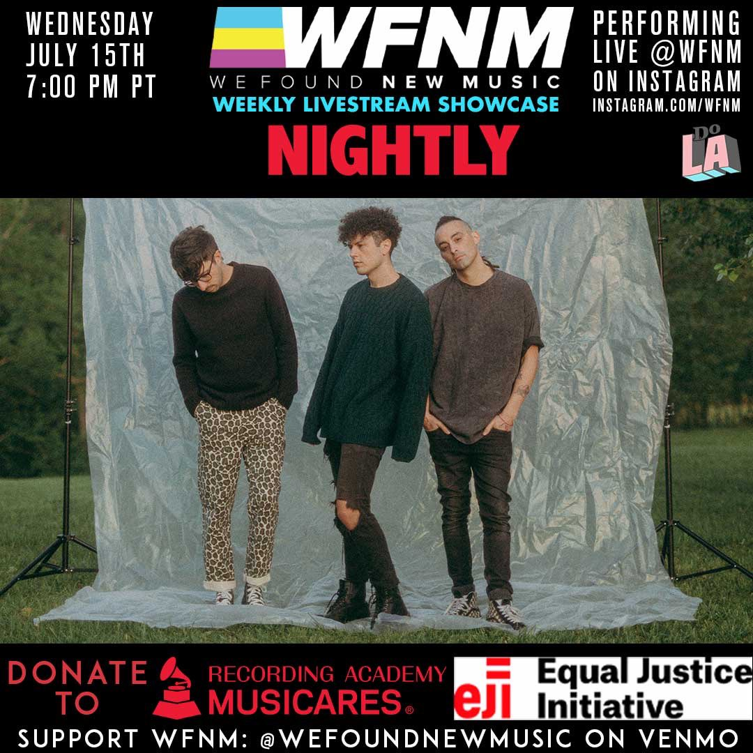 """.@nightly joins us July 15th on our Livestream showcase, supporting their new single """"not like you"""", dropping this Friday! Look out for that, and join us for their live set Wednesday night at https://t.co/Mrc13L94sB https://t.co/bJYosyfddu"""