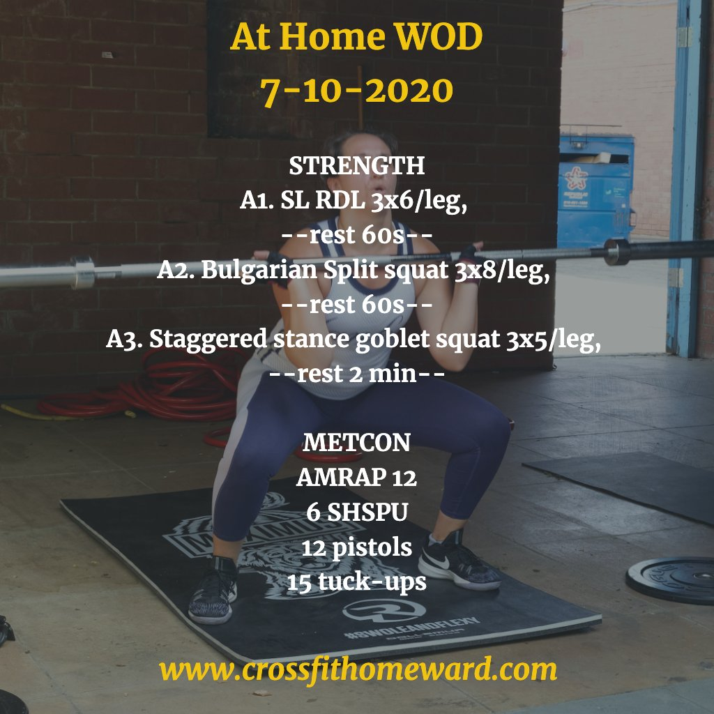 #CrossFit #DailyWorkout #WOD #CFH #CFHomies #Community #ChapelHill #UPlaceNC #staysafe #athomeworkouts #washyourhandspic.twitter.com/V89ary97IW