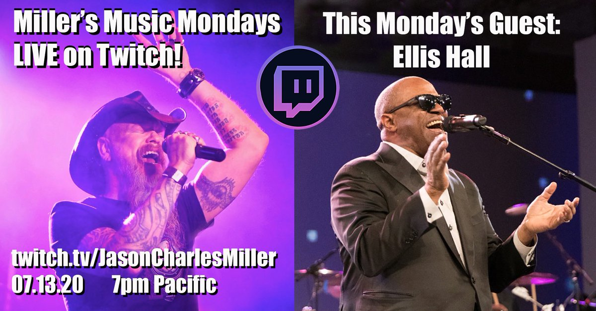 This is gonna be awesome! My guest this coming Monday is The Ambassador of Soul, @EllisHallMusic! Tune in right here at 7PM on Monday: