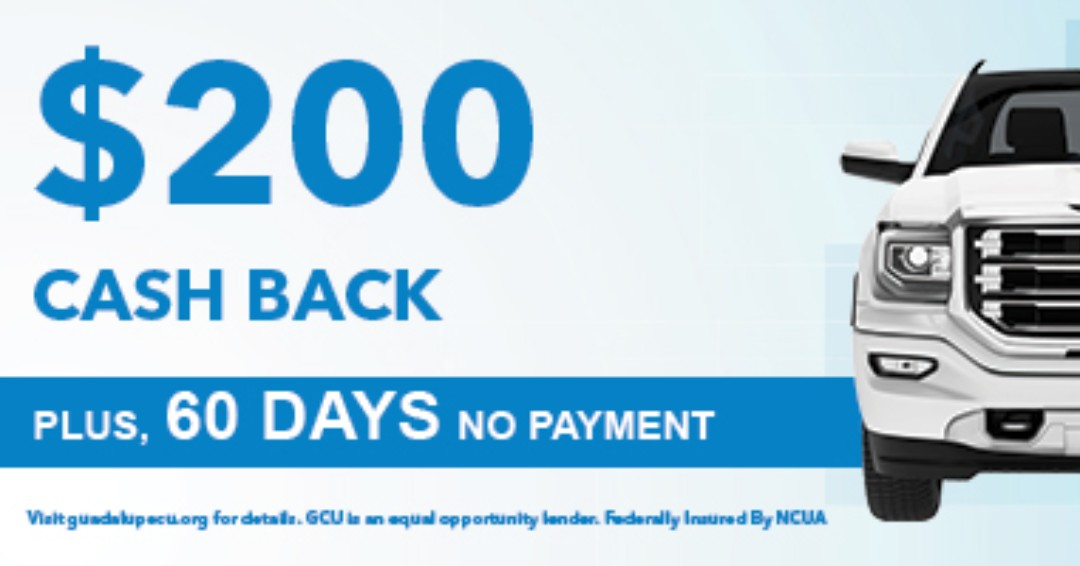 🚨 Offer ends July 31st 🚨  Drive over to $200 cash back and no payment for 60 days with an auto loan from GCU. Apply Now!  Restrictions apply. See a loan officer for details, or visit https://t.co/NyKXkxfBTw. GCU is an equal opportunity lender.  #GCU #loans #promotion #cashback https://t.co/CQ3ShA7m0A