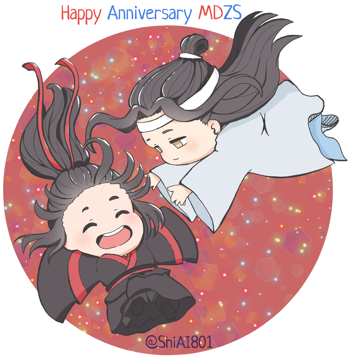 Happy 2° anniversary MDZS🎉🎉🎉🎉 #蓝湛 #LanZhan #LanWangji #蓝忘机 #魏无羡 #WeiWuxian #WeiYing #魏婴 #modaozushi #魔道祖师 #마도조사 #ปรมาจารย์ลัทธิมาร  #MaDaoToSu #grandmasterofdemoniccultivation #MDZS #chibi #ちび #かわいい #cute #kawai https://t.co/fBoPdxfGSH