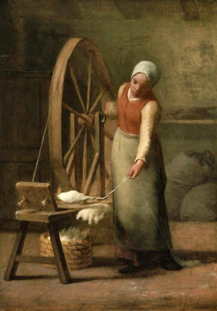 #ArteYArt Jean Francois Miller 1814-1875  Standing Spinner  Buonanotte a tutti, grazie, Agustín pic.twitter.com/wL0tnqnrgW