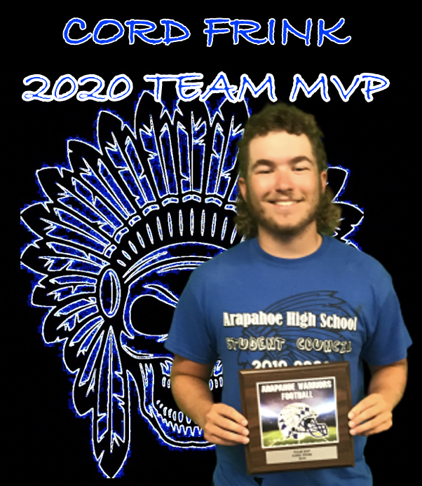 Cord Frink was our TEAM MVP for 2019! Led the team in tackles and switched to QB halfway through the season which he has never played to help the team. Epitome of a team first guy!! Cord has been putting in the work this offseason to have a big 2020 @cord_frink #Tribe #BeAWarriorpic.twitter.com/avIBsbSQNz